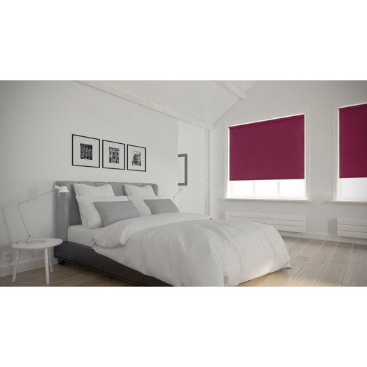 store enrouleur occultant 5784 inspire violet aubergine n 1 40x160 cm leroy merlin. Black Bedroom Furniture Sets. Home Design Ideas
