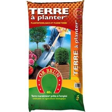 Terre végétale plantation OR BRUN, 40 l