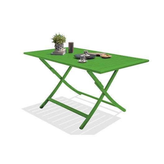 table de jardin marius rectangulaire vert prairie 4 6. Black Bedroom Furniture Sets. Home Design Ideas