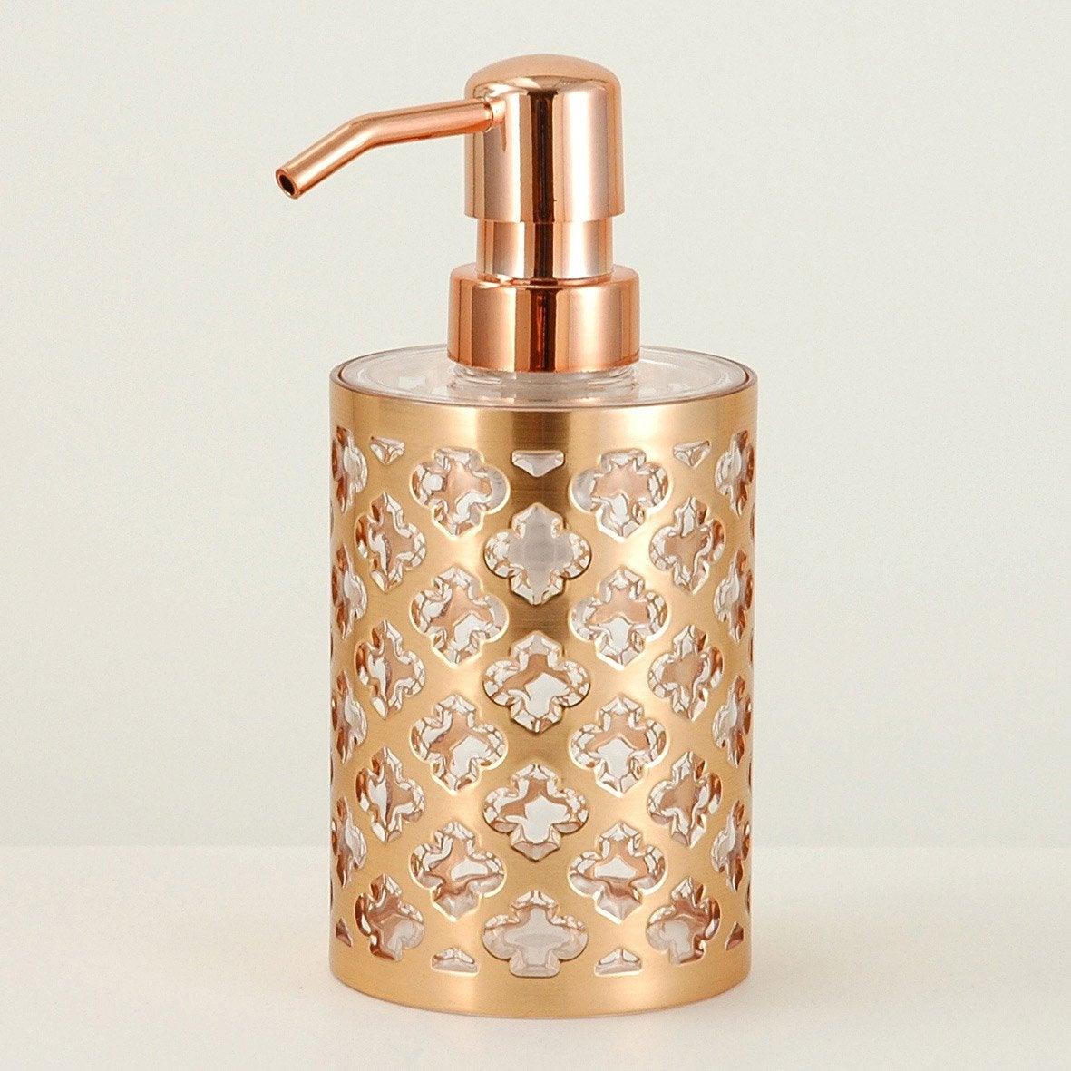 Distributeur de savon plastique Jasmine, cuivre
