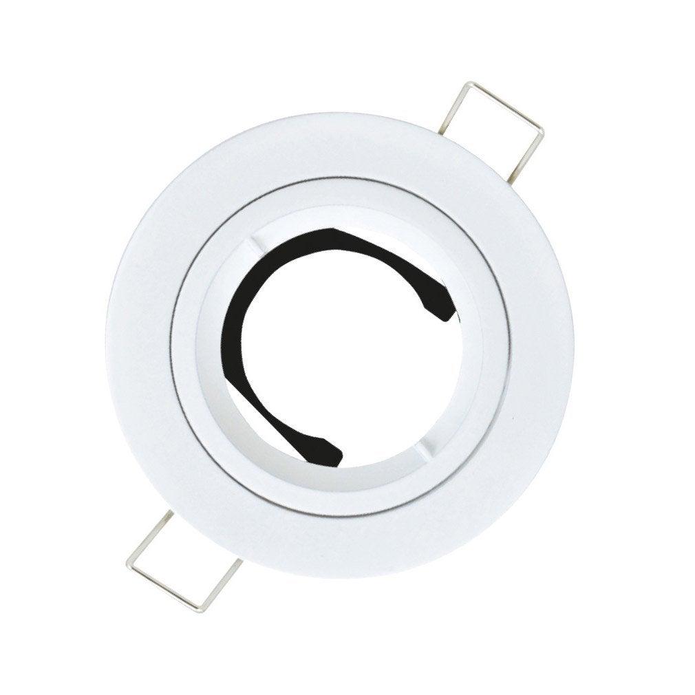anneau pour spot encastrer bbc fixe sans ampoule gu10 blanc leroy merlin. Black Bedroom Furniture Sets. Home Design Ideas