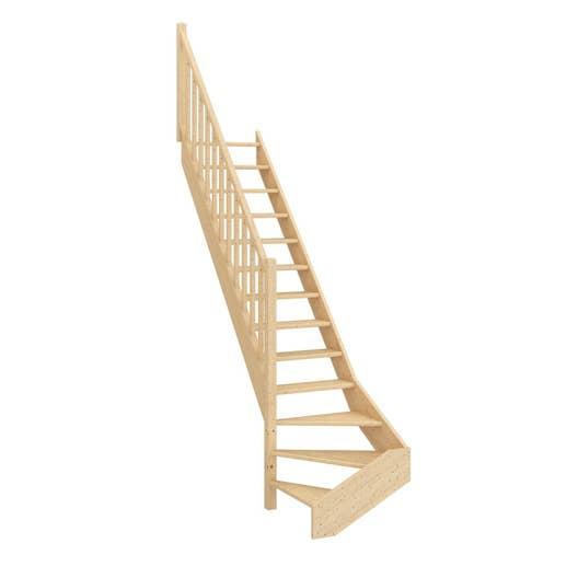 Escalier Quart Tournant Bas : escalier quart tournant bas gauche deva structure bois ~ Dailycaller-alerts.com Idées de Décoration