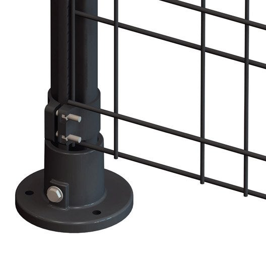 platine bekafor gris h 8 x cm leroy merlin. Black Bedroom Furniture Sets. Home Design Ideas