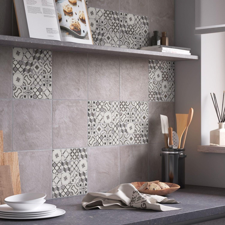 Habillez Les Murs De La Cuisine De Carrelage Carreaux De Ciment Gris