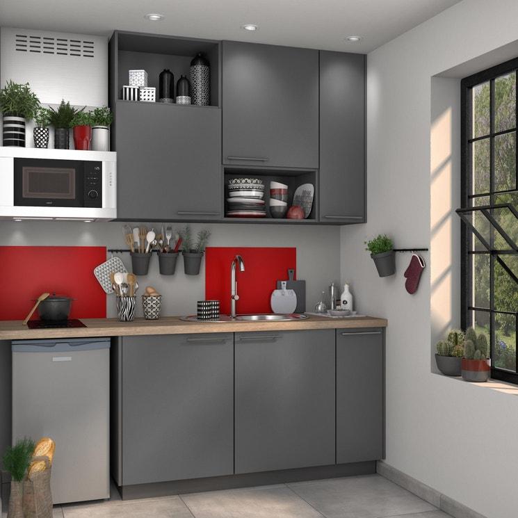 Cuisine Equipee Cuisine Sur Mesure Cuisine Amenagee Meuble De Cuisine Cuisine Modulable Moderne Bois Design Ilot Central Delinia Id Leroy Merlin