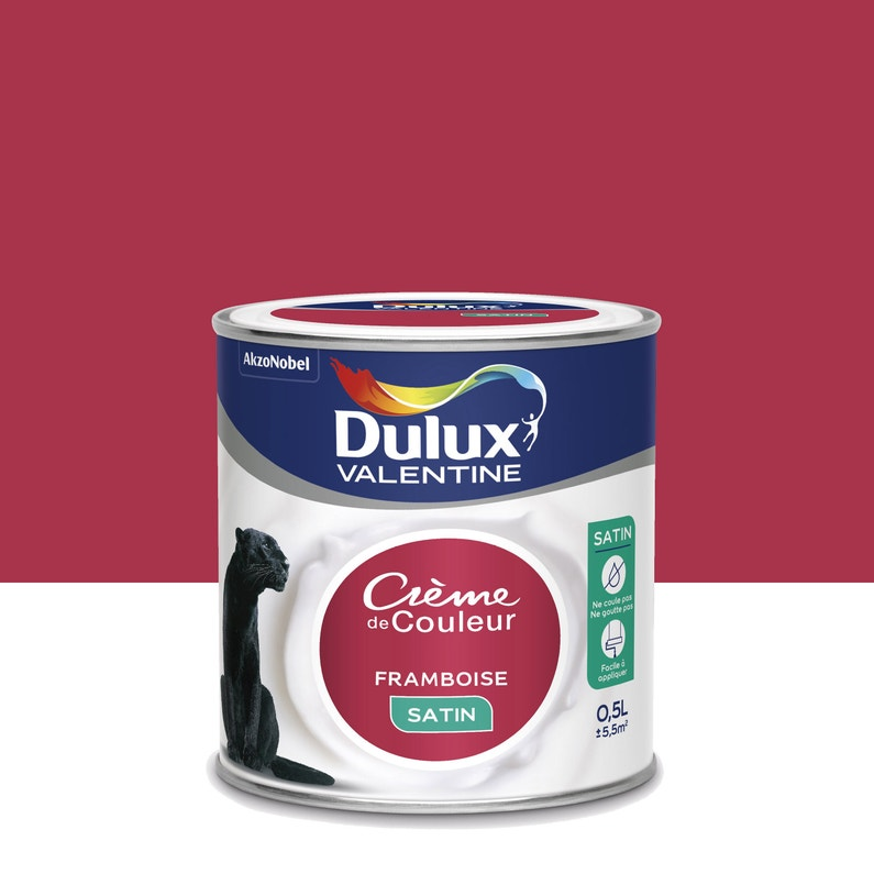 Peinture Framboise Satin Dulux Valentine Crème De Couleur 0 5 L