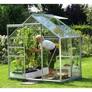 Serre de jardin verre hoticole protection et soin des cultures v g taux - Serre de jardin brico depot ...