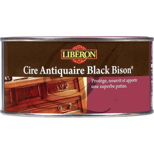 Cire en p te meuble et objets cire black bison liberon 0 for Cire antiquaire black bison liquide