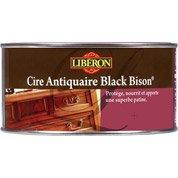Cire en pâte meuble et objets Cire black bison LIBERON, 0.5 l, merisier foncé