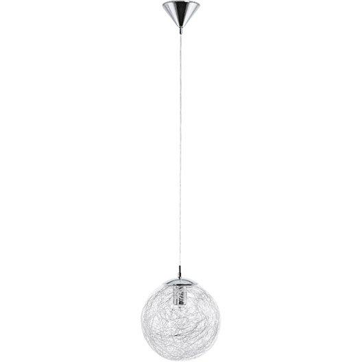 Suspension Moderne Luberio verre blanc 1 x 60 W EGLO