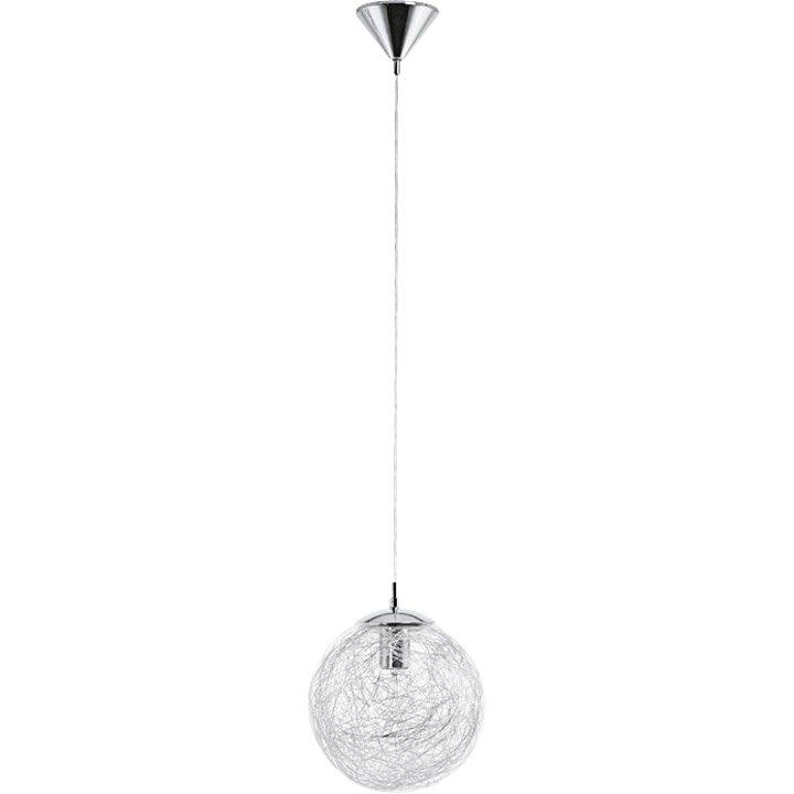 suspension e27 moderne luberio verre chrome 1 x 60 w eglo leroy merlin. Black Bedroom Furniture Sets. Home Design Ideas