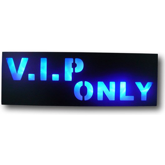 Tableau lumineux vip only 50x17cm for Miroir 90x30
