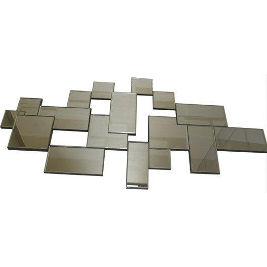 Miroir facettes monera 70x140 cm leroy merlin for Miroir 140 x 60
