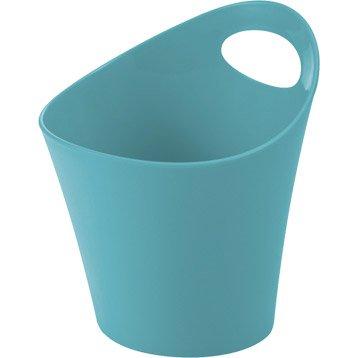 Panier en plastique bleu atoll 4, Potichelli