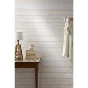 Lambris bois sapin brut de sciage blanc ARTENS, 235x13.5cm ep. 13.5mm