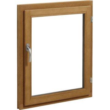 Fenêtre bois 1 vantail ouvrant à la française H.105 x l.80 cm