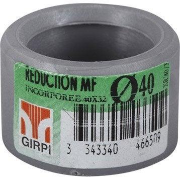 Réduction incorporée en pvc à coller, femelle / mâle, D40/32