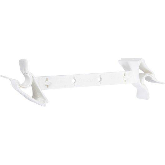 Entreb illeur de fen tre plastique blanc socona airclips for Entrebailleur fenetre socona