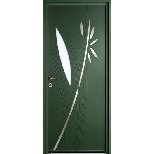 Porte d 39 entr e sur mesure en aluminium fidis excellence for Dimension porte entree