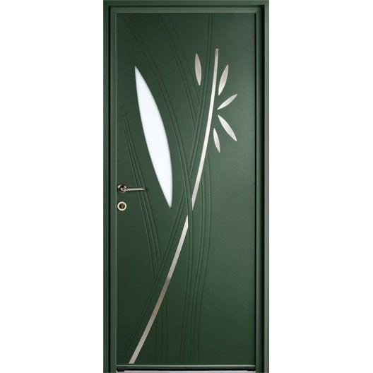 Porte d 39 entr e sur mesure en aluminium fidis excellence leroy merlin - Porte d entree sur mesure ...