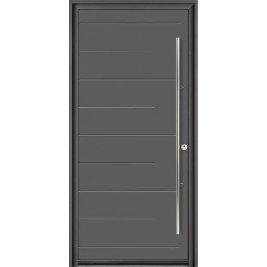 Porte d 39 entr e sur mesure en aluminium soprano excellence for Prix porte de service aluminium