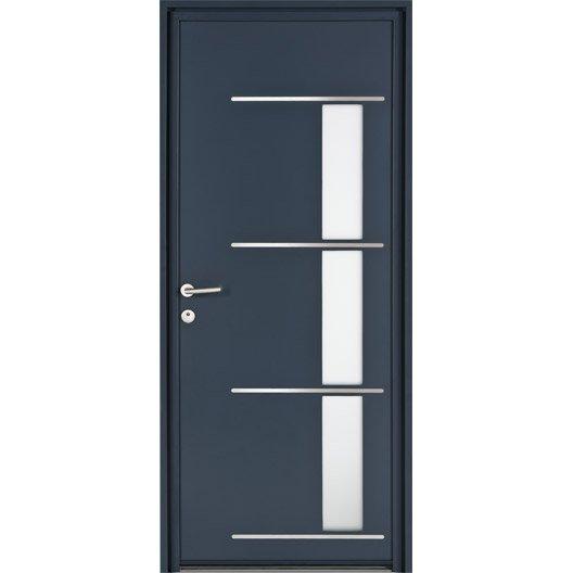 Porte d 39 entr e sur mesure en aluminium matara excellence leroy merlin - Leroy merlin porte entree pvc ...