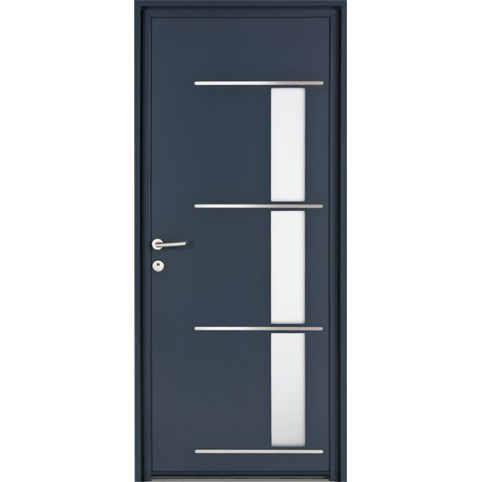 Porte d 39 entr e sur mesure en aluminium matara excellence leroy merlin - Comment mesurer une porte d entree ...
