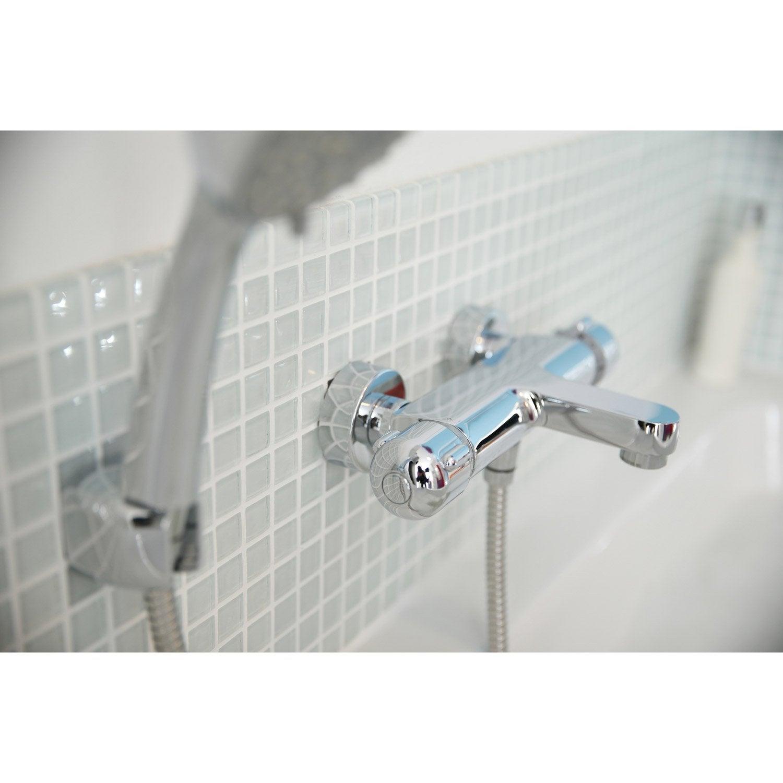 Mitigeur thermostatique de baignoire chromé SENSEA Logico