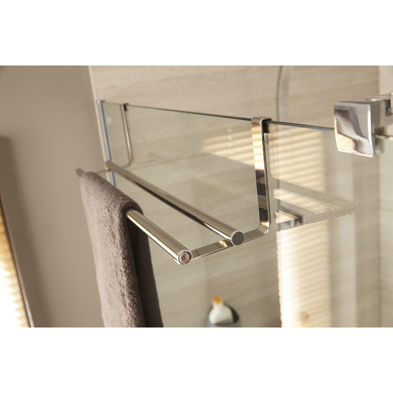 Porte Serviette À Suspendre porte-serviettes acier 2 barres fixes hook