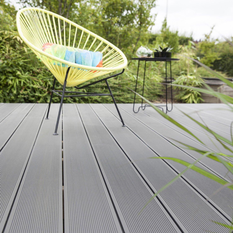 Planche Composite Primo Gris L X L Cm X Ep Mm Leroy - Materiaux composite pour terrasse