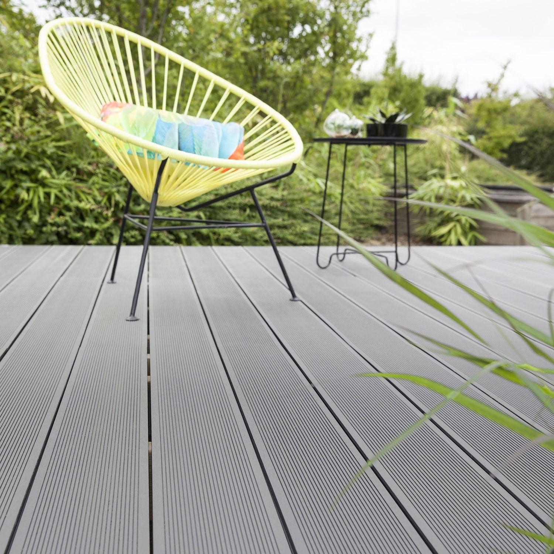 planche composite primo gris l220 x l145 cm x ep21 mm - Lames Terrasse Pas Cher