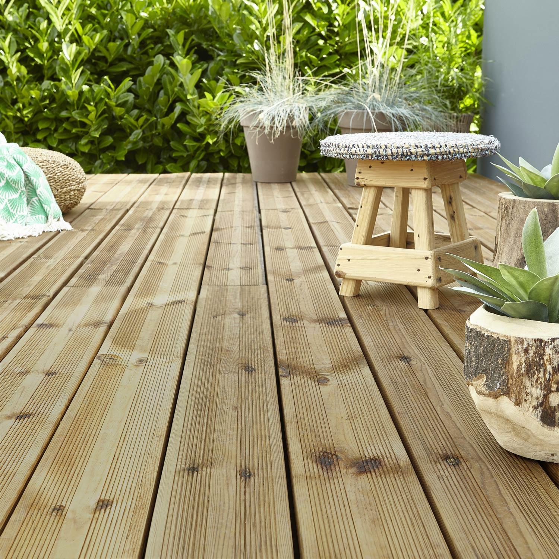 Vente Bois Pour Terrasse planche bois kuhmo, verte, l.240 x l.14.5 cm x ep.27 mm
