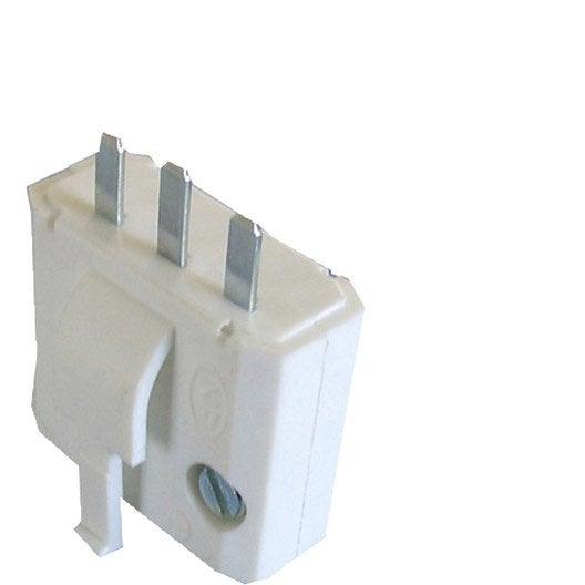 Fiche DCL 2P+T TIBELEC, plastique, blanc