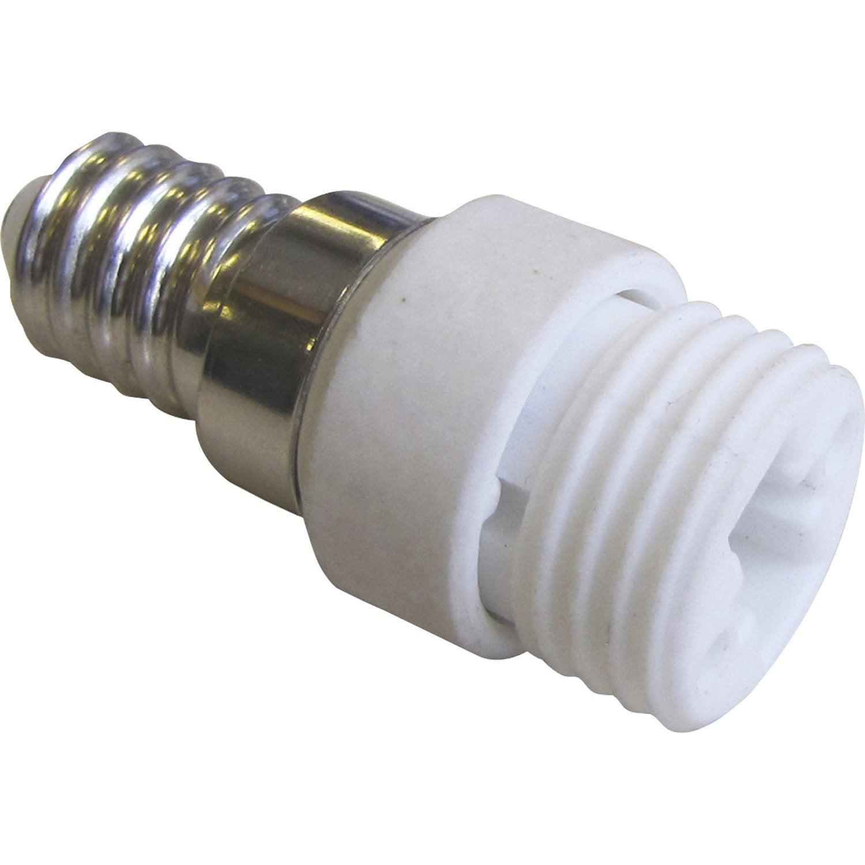 Transformateur De Douille E14 En G9 G9 Plastique Blanc 100 W
