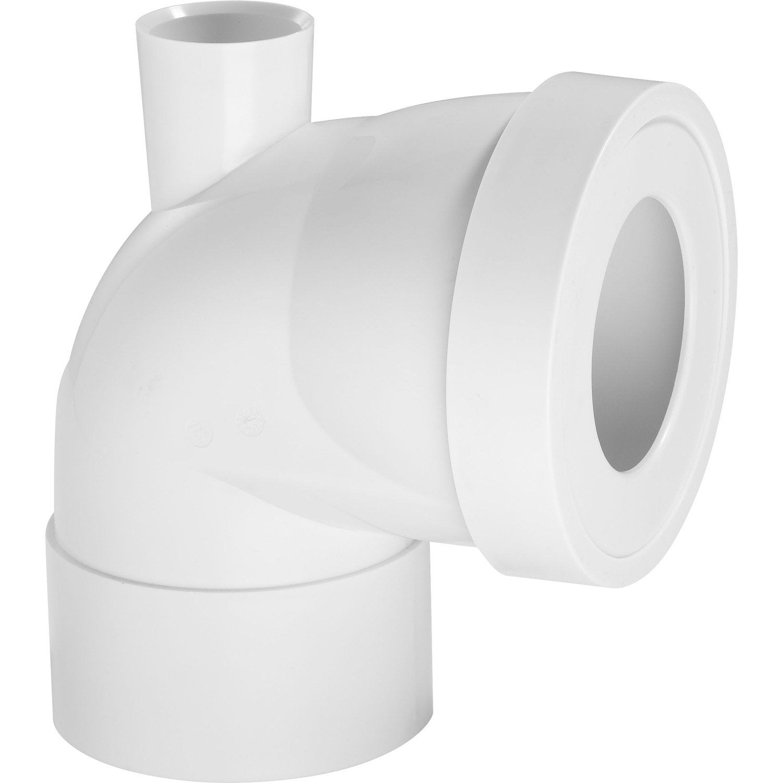 pipe de wc courte en angle de 90 c avec piquage cm wirquin leroy merlin. Black Bedroom Furniture Sets. Home Design Ideas