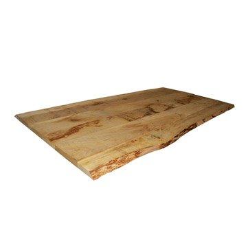 Plateau de table chêne pleine lame, L.160 x l.80 cm x Ep.27 mm