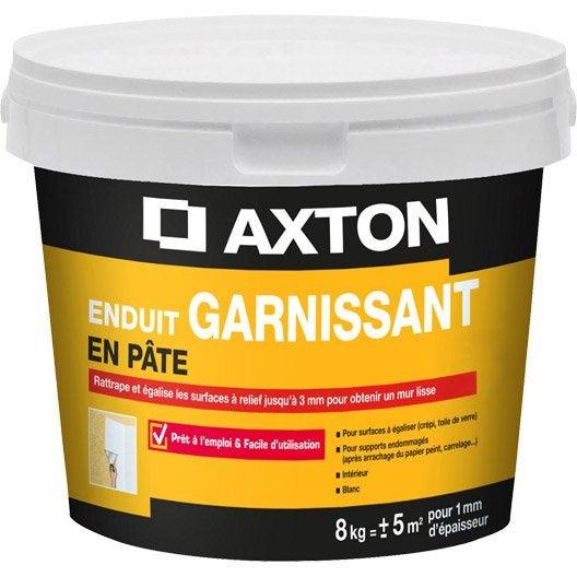 enduit de rénovation et garnissant pâte blanc axton, 8 kg   leroy