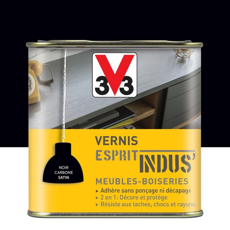 Vernis Meuble Et Objets Indus V33 075 L Noir Carbone