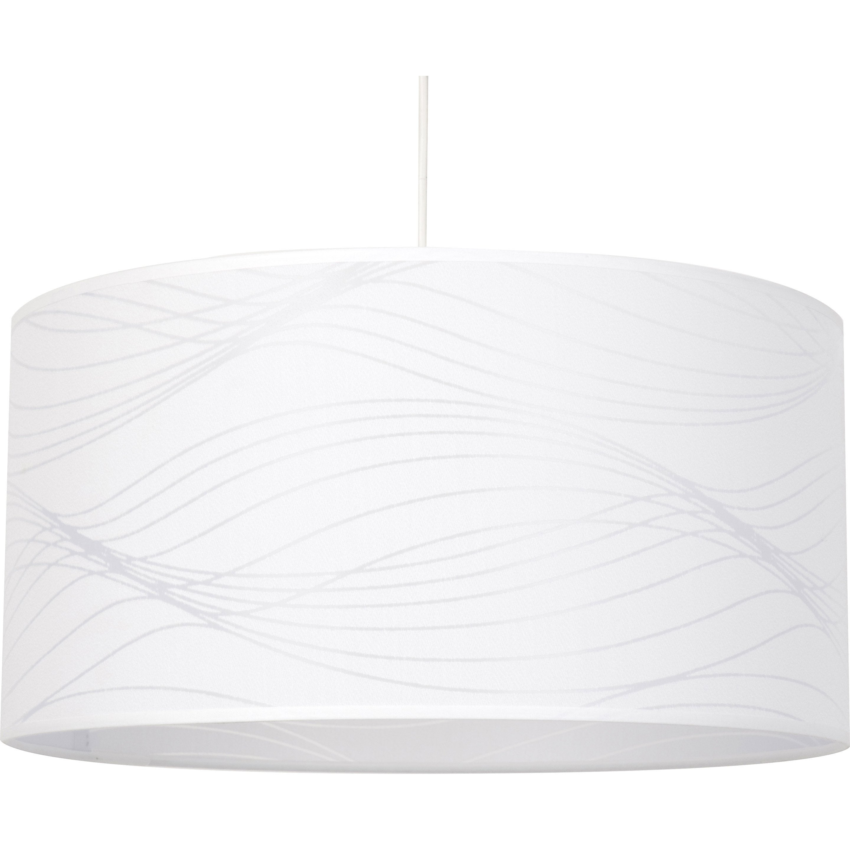 Suspension, e27 design Lignes coton blanc 1 x 100 W COREP