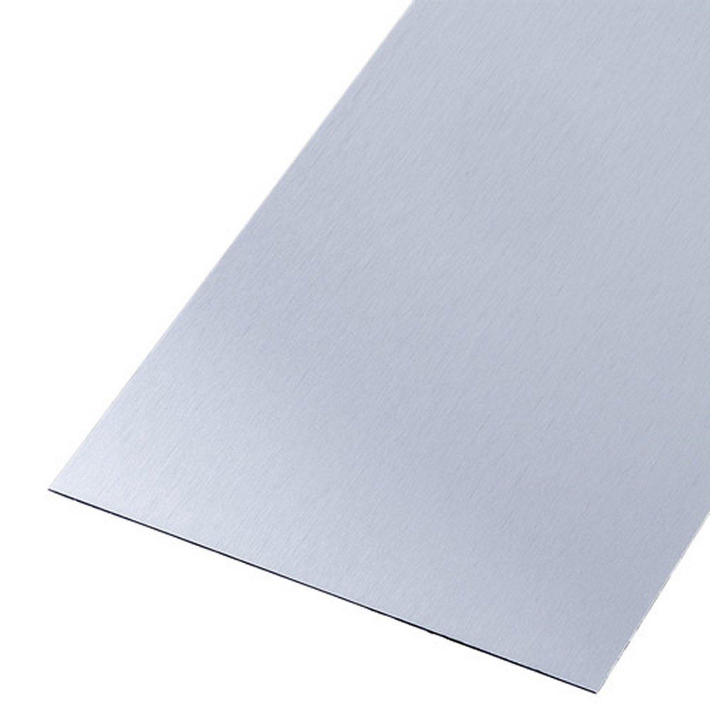 tle acier inoxydable lisse bross gris l60 x l100 cm ep