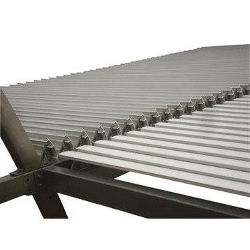 Lames aluminium Sydney gris l.350 x L.400 cm
