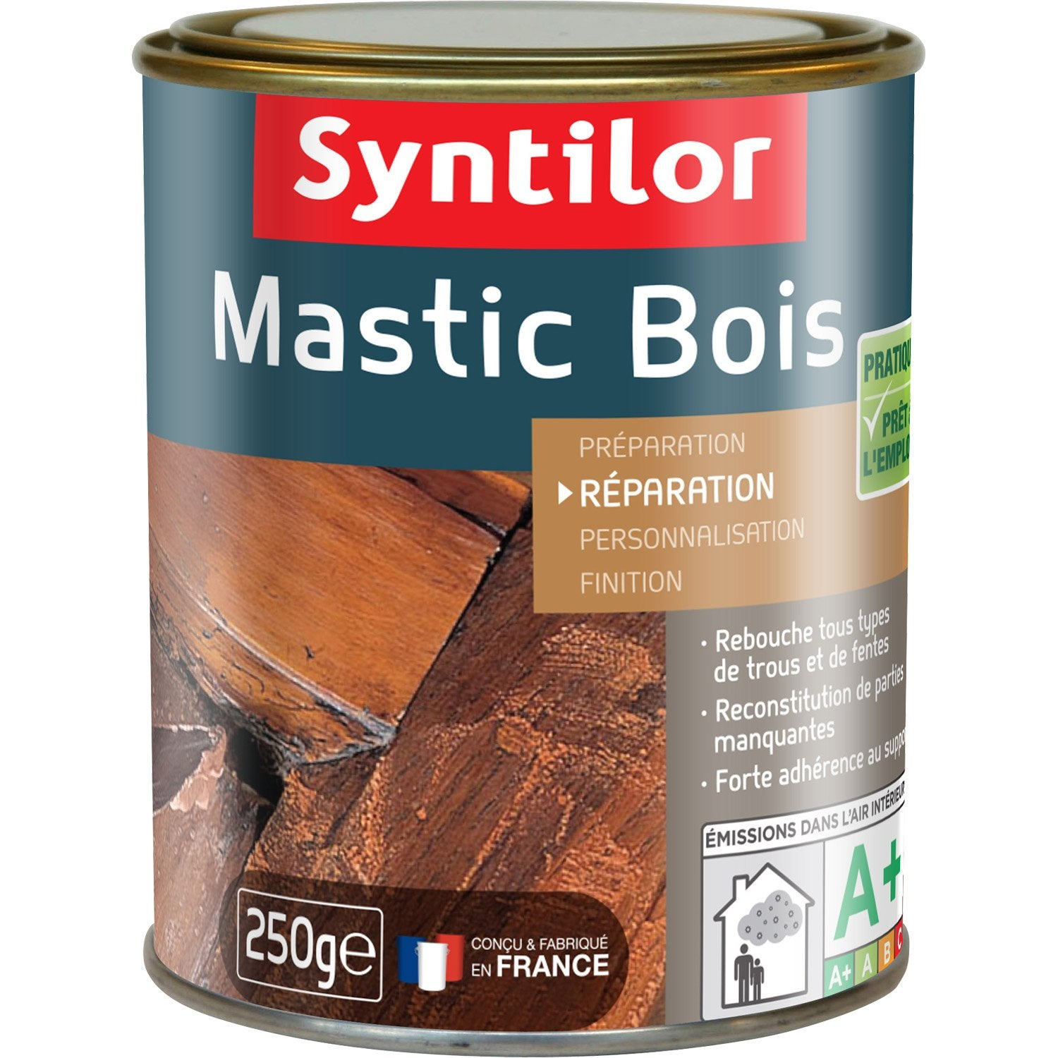 mastic bois de rebouchage syntilor bois clair 250 g leroy merlin. Black Bedroom Furniture Sets. Home Design Ideas
