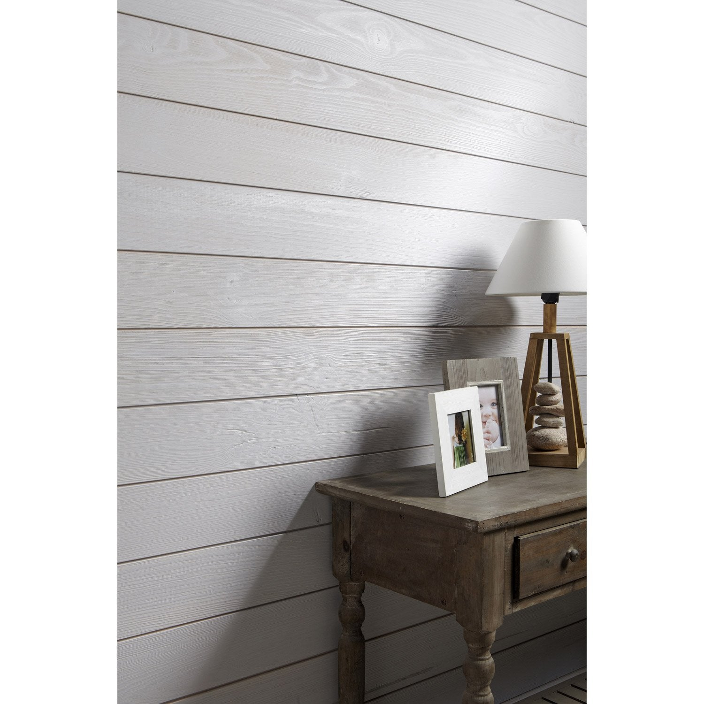 lambris bois sapin bross gris galet n 5 artens ep leroy merlin. Black Bedroom Furniture Sets. Home Design Ideas