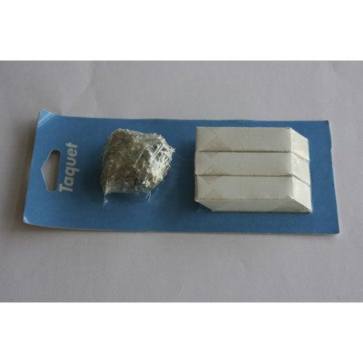 8 taquets d'assemblage blanc, L.3.5 x l.3 cm
