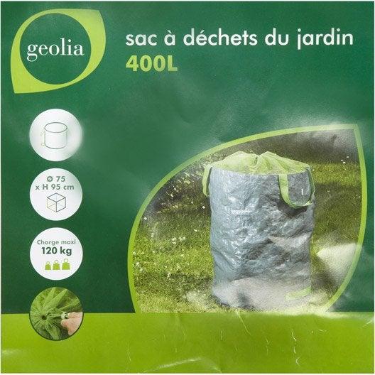 Sac à végétaux à gazon-feuilles réutillisable GEOLIA 400 l