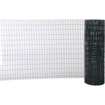 Grillage soudé vert H.1.2 x L.20 m, maille de H.100 x l.50 mm
