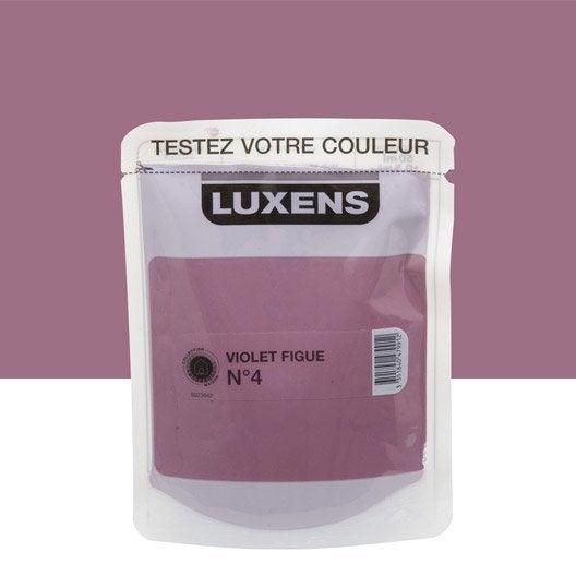 Testeur peinture violet figue 4 luxens couleurs int rieures satin l leroy merlin for Peinture couleur figue