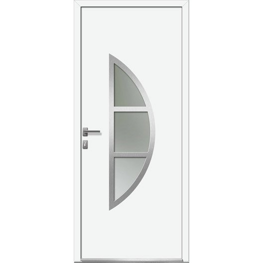 Porte d 39 entr e sur mesure en pvc bergen excellence leroy - Porte entree pvc leroy merlin ...