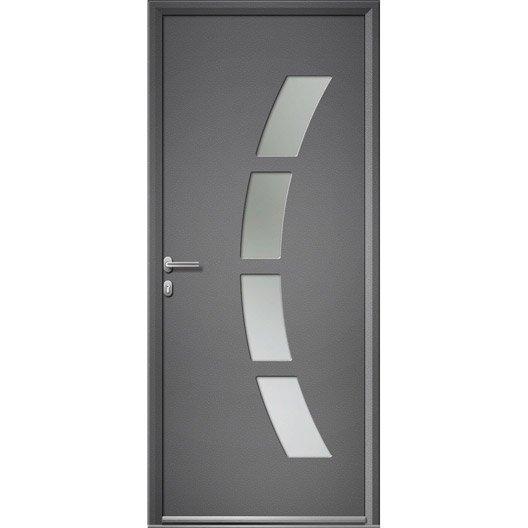 porte d 39 entr e sur mesure en aluminium toledo artens leroy merlin. Black Bedroom Furniture Sets. Home Design Ideas