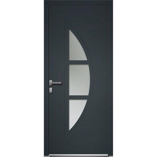 porte d 39 entr e sur mesure en aluminium omaha excellence leroy merlin. Black Bedroom Furniture Sets. Home Design Ideas